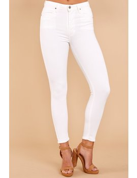 Under My Spell High Waist White Skinny Jeans by Just Usa
