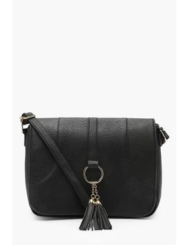 Plus Loop + Tassel Saddle Cross Body Bag by Boohoo