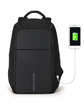 Markryden Anti Theft Laptop Backpack  Business Bags With Usb Charging Port School Travel Pack Fits Under 15.6 Inch Laptop (Black 2.1) by Markryden