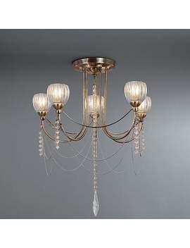 Mildura Jewelled 5 Light Ceiling Fitting by Dunelm