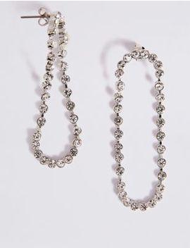 Crystal Loop Drop Earrings by Marks & Spencer