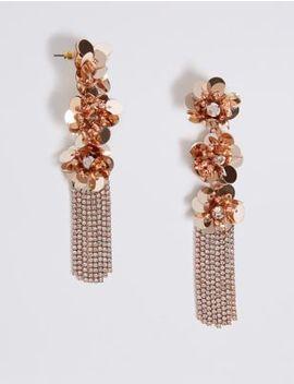 Triple Flower Shower Drop Earrings by Marks & Spencer