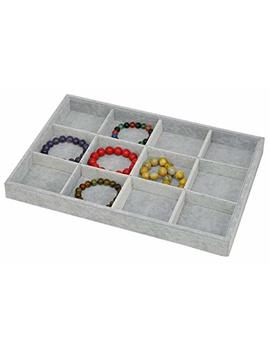 Stackable Ice Velvet Jewelry Tray Showcase Display Storage Organizer Functional by Origia
