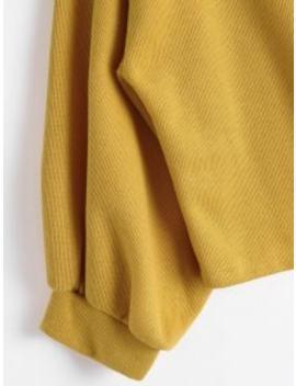 Lantern Sleeve Slash Neck Sweatshirt   Ginger S by Zaful