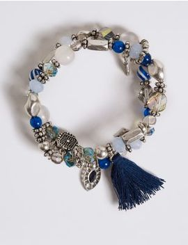 Dizzy Bead Tassel Bracelet by Marks & Spencer