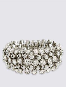Diamanté Sparkle Gem Stretch Bracelet by Marks & Spencer