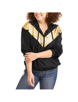 Women's Plus Metallic Half Zip Hoodie Jacket by Elite Brands