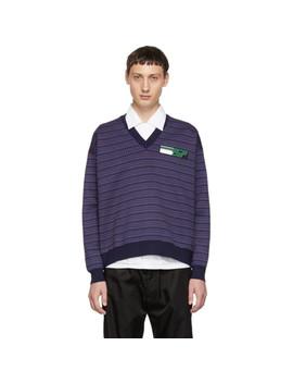 Multicolor Deep V Neck Sweater by Prada