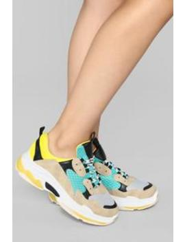 My City I Run Sneaker   Yellow by Fashion Nova