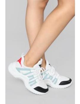How I Run Sneakers   Blue by Fashion Nova