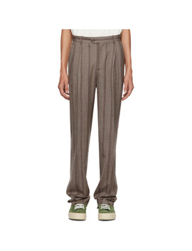 Brown Stripe Pant High Waisted Trousers by Éditions M.R