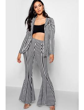 Stripe Flare Trouser by Boohoo