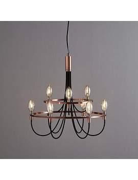 Fredirica 9 Light Copper Chandelier by Dunelm