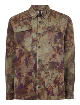 Khaki Camouflage Long Sleeve Overshirt by Topman