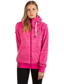 Naketano Women's Fleece Jacket Redefreiheit? Iv Raspberry Melange, L by Naketano