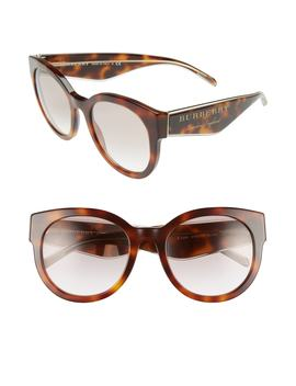 54mm Gradient Round Frame Sunglasses by Burberry
