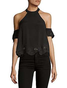 Ruffled Satin Wrapped Top by Astr The Label