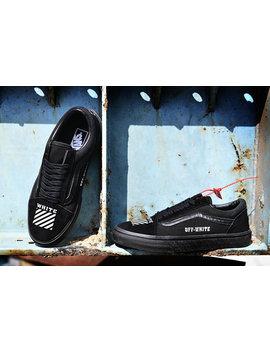 Custom Vans X Off White Shoe Black Old Skool by Round Two Sneakers
