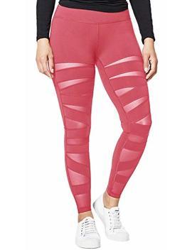 Queenie Ke Women Mesh Leggings High Waist Gym Yoga Tights Running Pants by Queenie Ke