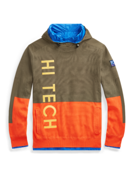 Hi Tech Knit Cotton Hoodie by Ralph Lauren