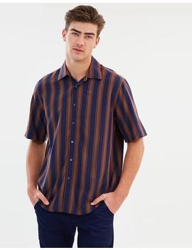 Stripe Short Sleeve Shirt by Cerruti 1881