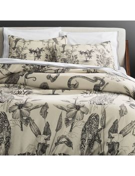 Midnight Jungle Linen Bedding by Crate&Barrel