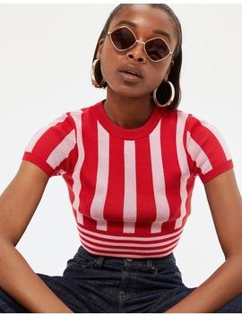 Stripe Crop T Shirt by Topshop