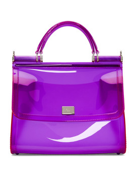 Purple Small Rubber Miss Sicily Bag by Dolce & Gabbana