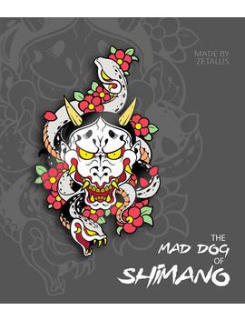 Yk Mad Dog Of Shimano [Enamel Pin] by Zetallis