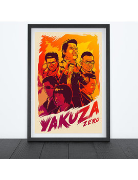 Yakuza Zero Video Game Poster, Video Game Art, Prints, Gamer Room Decor, Gaming Prints, Wall Art by Crowsmack