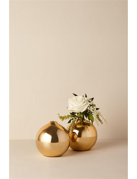 Gold Stoneware Vase by Bhldn