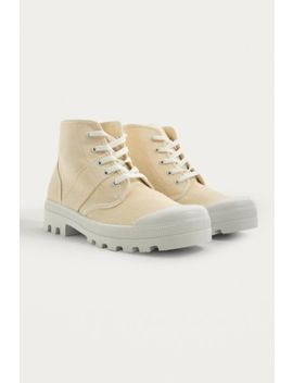 Uo Bea Canvas Lace Up Boot by Urban Outfitters
