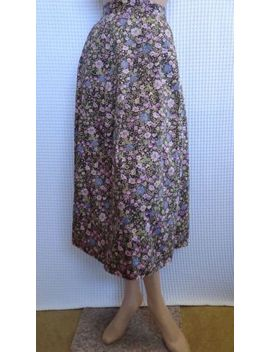 Size 12/14, Laura Ashley Vintage Floral Skirt 100% Cotton. by Laura Ashley