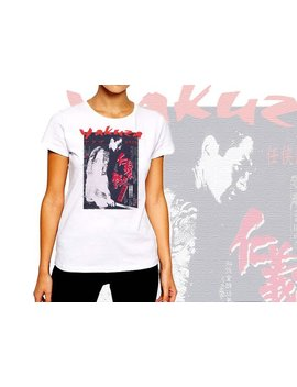 Yakuza T Shirt Samurai Bushido Warrior Japanese Kanji Women Cotton Tee by Warface Apparel