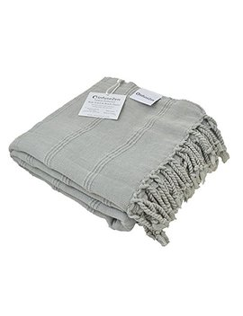 Stonewashed Turkish Towel, Infuse Zen Unique Thin & Absorbent Bath Towel, Beach Towel And Pool Towel, Large Cotton Stone Washed Peshtemal Towels Weaved In Turkey, Hammam Spa Towels (Beige) by Infuse Zen