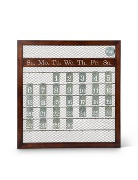 23 In. X 25 In. Brown Wood And Metal Perpetual Calendar by Lone Elm Studios