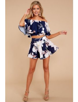 Best Of This Navy Floral Print Two Piece Set by Latiste