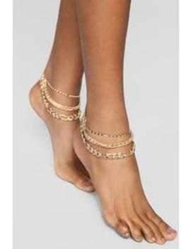 Into The Layer Anklet   Gold by Fashion Nova