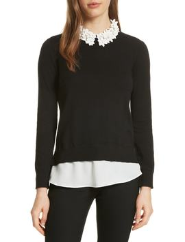 Floral Collar Mockable Jumper by Ted Baker London