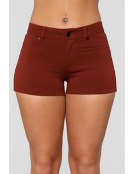 Riley Shorts   Rust by Fashion Nova