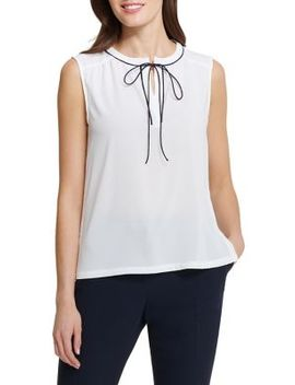 Tie Front Blouse by Tommy Hilfiger