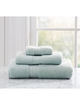 Hydrocotton Quick Drying Bath Towel, Porcelain Blue by Pottery Barn