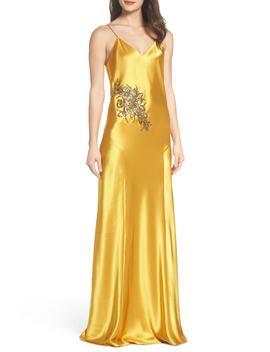 Mestiza Carmen Embellished Satin Slip Gown by Mestiza