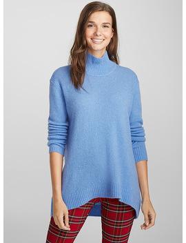 Wool And Mohair Mock Neck Sweater by Twik Twik Twik Nike Twik