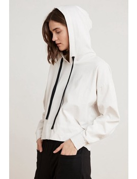 Pandora Structured Cotton Hoodie by Velvet By Graham & Spencer
