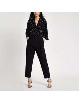 Black Fitted Peg Pants by River Island