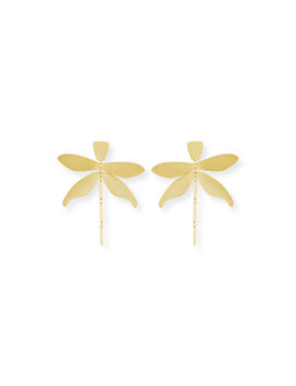 Articulated Dragonfly Earrings by Tory Burch
