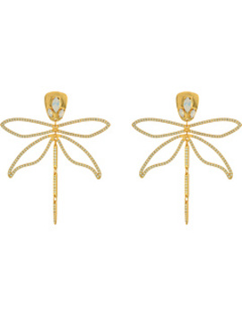 Embellished Dragonfly Earrings by Tory Burch