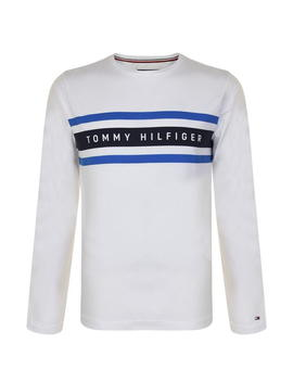Sleeved Band Logo T Shirt by Tommy Hilfiger