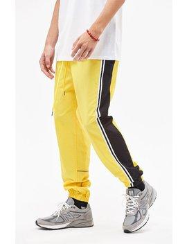 Warm Up Fleece Side Stripe Yellow Pants by Pac Sun